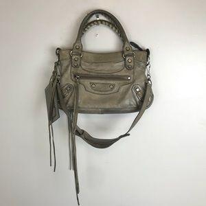 Balenciaga Taupe Mini Handbag